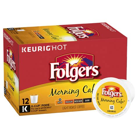 folgers coffee pods morning cafe k cup pods folgers coffee