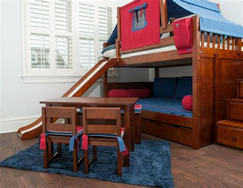 boy bunk bed with slide how and awesome bunk beds with swirly slide atzine