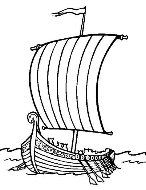 coloring page bateau viking coloring me