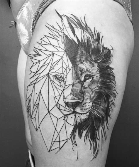 geometric lion tattoo pics of my favorite geometric tattoos ink ink ink