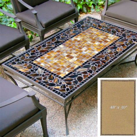 Inspired by nature, these original mosaic tables are truly works of art. Table tops are