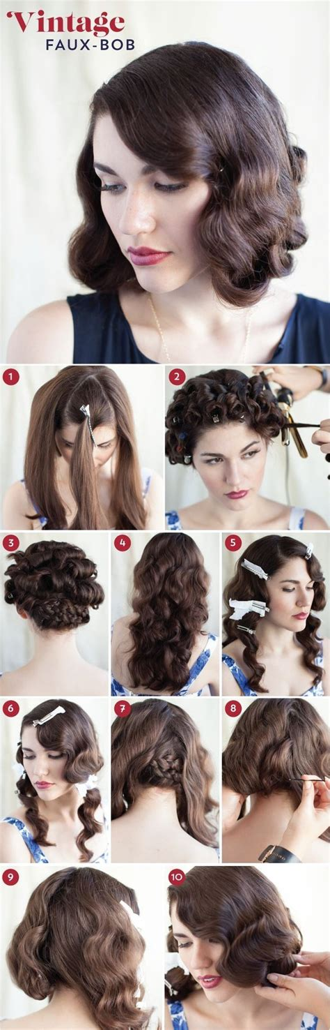 20s hair style tutorial 30 diy vintage hairstyle tutorials for short medium long