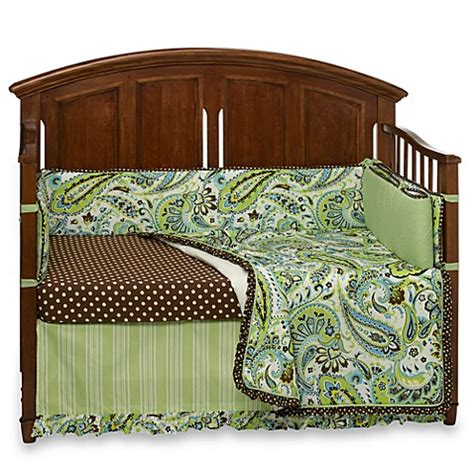 My Baby Sam Paisley Splash In Lime 4 Piece Crib Bedding My Baby Sam Crib Bedding