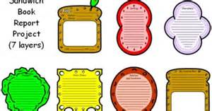 Sandwich Book Report Template Free Sandwich Book Report Project Templates Printable