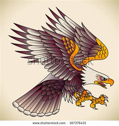 eagle tattoo flash bald eagle attacking old school tattoo design editable