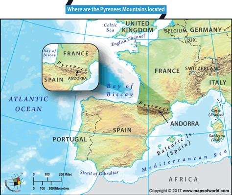 pyrenees mountains map where are the pyrenees mountains located answers