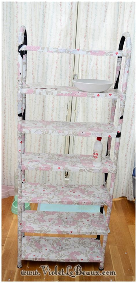 Decoupage Shelves - how to decoupage shelves home sweet home violet