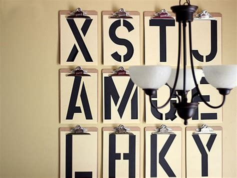 100 creative diy wall art ideas to decorate your space 8 typography