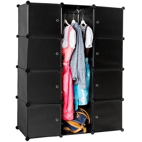 Clothes Storage Systems In Bedrooms Shelf Storage Boltless Wardrobe Clothes Shelving System Dresser Bedroom Black Ebay