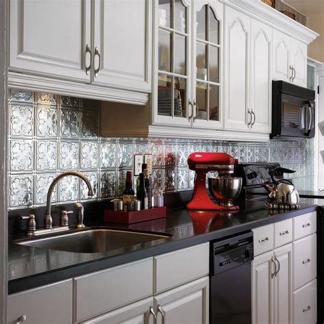 Kitchen Metal Backsplash Ideas Metallaire Vine Backsplash Metallaire Walls 5400210bna By Armstrong
