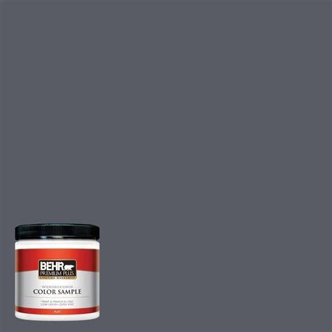 behr premium plus 8 oz 760f 6 distant thunder interior exterior paint sle 760f 6pp the