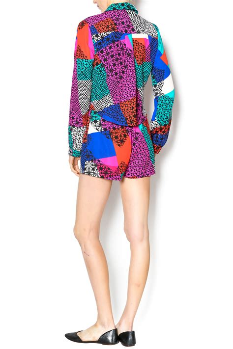 colorful rompers mustard seed colorful romper from manhattan by dor l dor