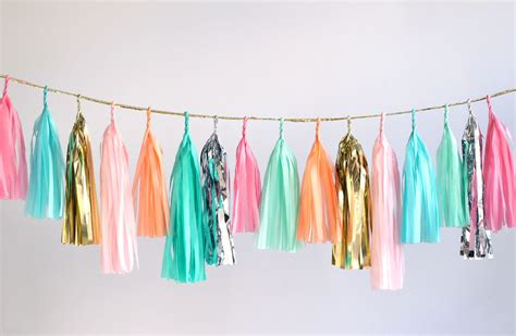 How To Make A Tissue Paper Tassel Garland - 19 diy tassel garland ideas guide patterns