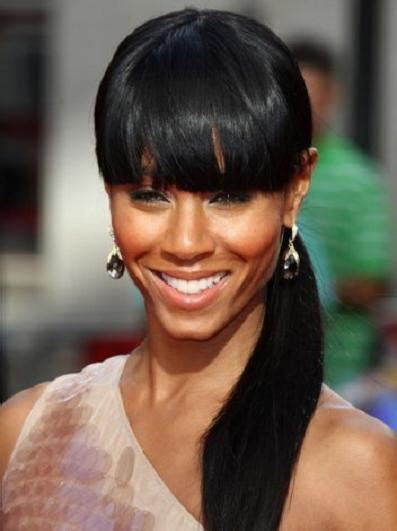 ponytail with tapered bangs hairstyles bangs with ponytail black hairstyle hairstyle for women