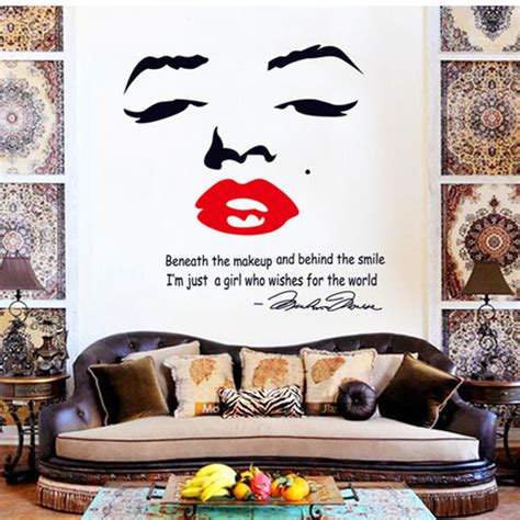 sexy home decor hot sale home decor diy wall stickers art sexy marilyn