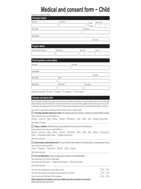 child consent form template child consent form 2 free templates in pdf word
