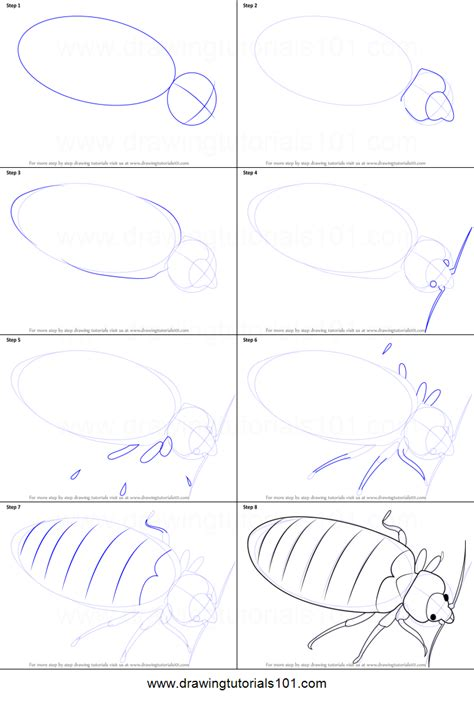 how to draw a bed step by step how to draw a bed bug printable step by step drawing sheet