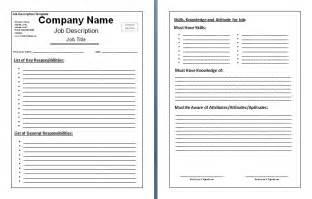 basic description template blank description template images