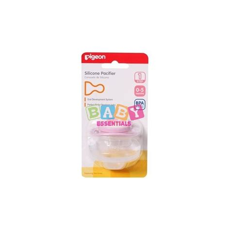 Empeng Tahap 1 Pigeon Silicone Pacifier Step 1 0 5 Months pigeon silicone pacifier step 1 babyessentials pk