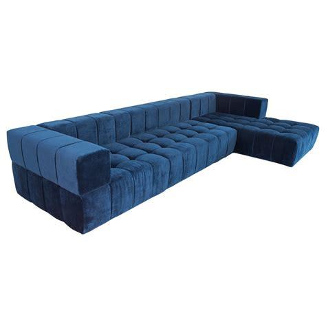 velvet sectional sofa with chaise modern tufted sectional w chaise modshop modshop
