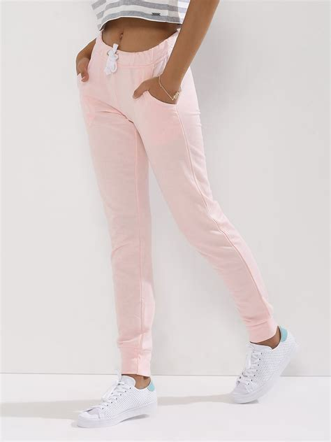 buy pink woman pink solid joggers  girls   india