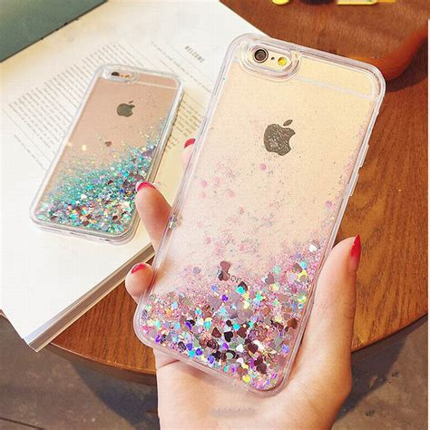Casing Iphone 6 6s Cover Loving glitter dynamic liquid for iphone 6 6s plus 5 5s se