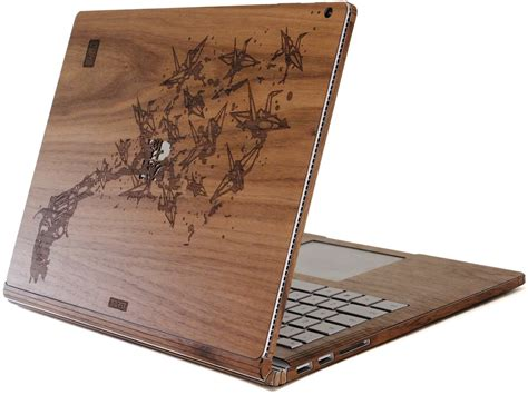 custom picture book get your own custom wood skin cover for the surface book