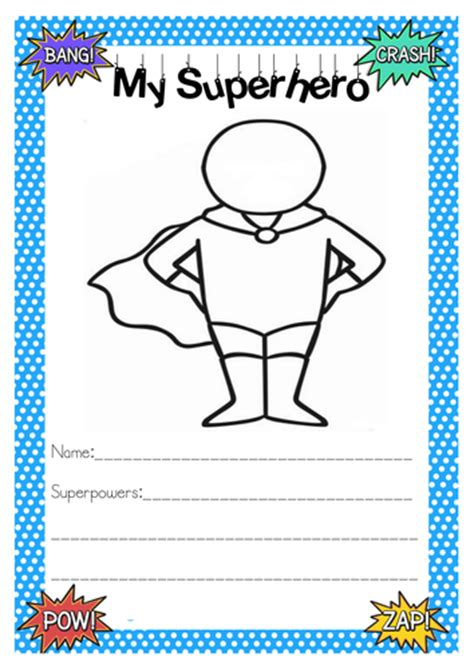 printable heroes superhero activities writing activities pinterest