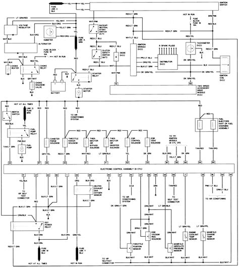 1988 mustang gt efi to carb wiring diagram ford mustang