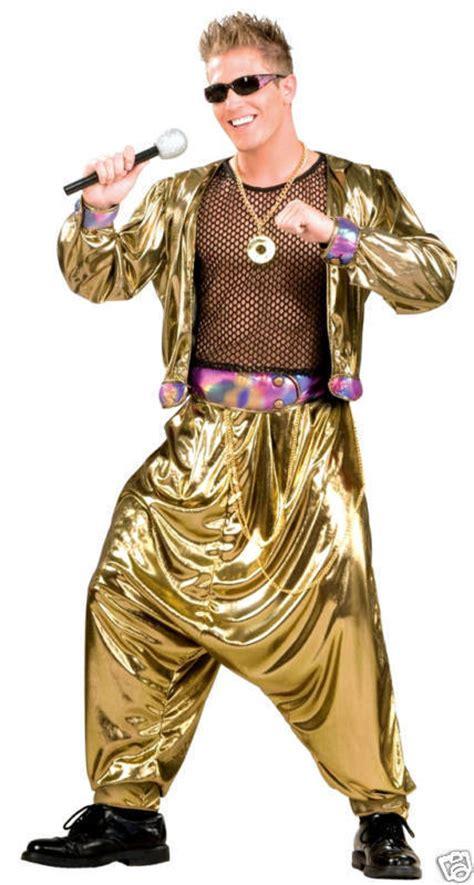 90s rap 80 s costumes mens 80s 90s pop rap star rapper mc hammer music gold