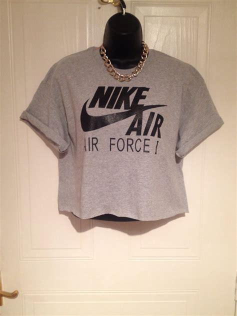 T Shirt Nike Swag Air unisex customised nike air cropped t shirt sz small festival