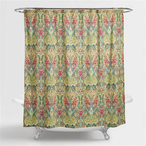 world market shower curtains alessia shower curtain world market