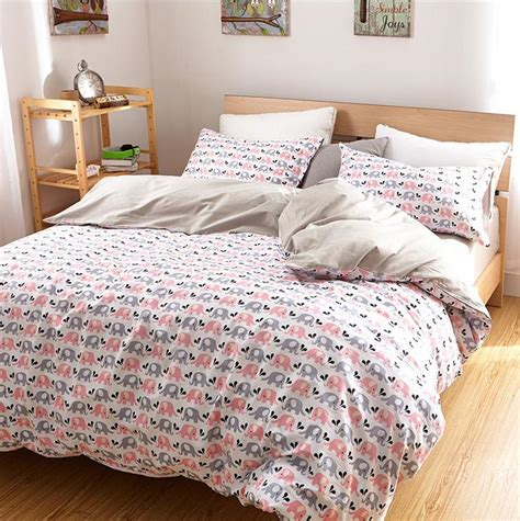 twin fitted comforter luxury elephant bedding set queen king twin size cotton