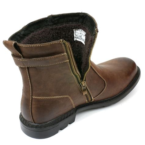 fur lined boots mens mens fur lined ankle boots leather lined rubber sole