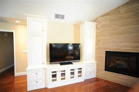 The Wood Connection White Entertainment Center   The Wood