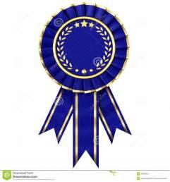 blue ribbon award stock image image 20964811