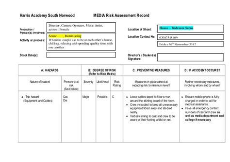 shop risk assessment template shop risk assessment template media risk assessment