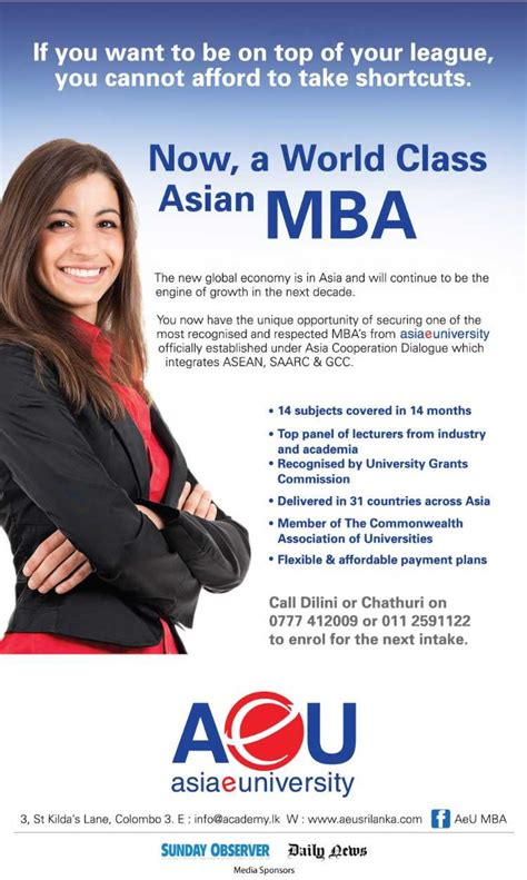 Top Universities In Asia For Mba by Asia E