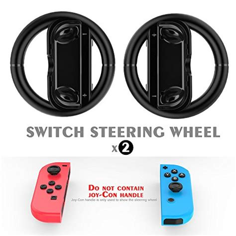 New Nintendo Switch Con Wheel Set Of 2 Aif612 1 con wheel gamewill for nintendo switch controller black set of 2 software software