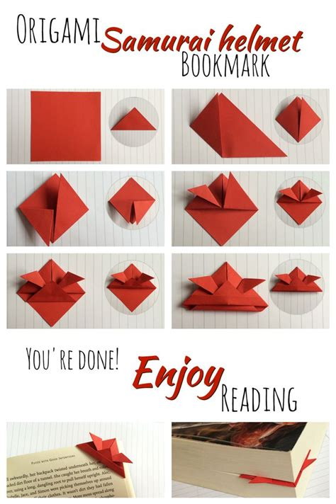 How To Make A Paper Bookmark Origami - 17 best images about book stuff on helmets