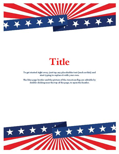 Flyers Office Com Free American Flag Flyer Template