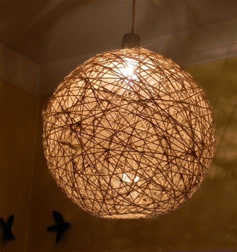 Yarn Light Fixture The Design Pages Twine Light Fixture