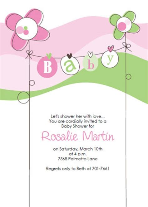 Free Baby Shower Invitation Templates by Free Baby Shower Invitation Template Wblqual