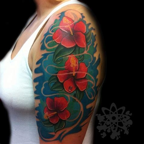black cat tattoo hawaii 3 plumeria by jose guevara morales tattoonow