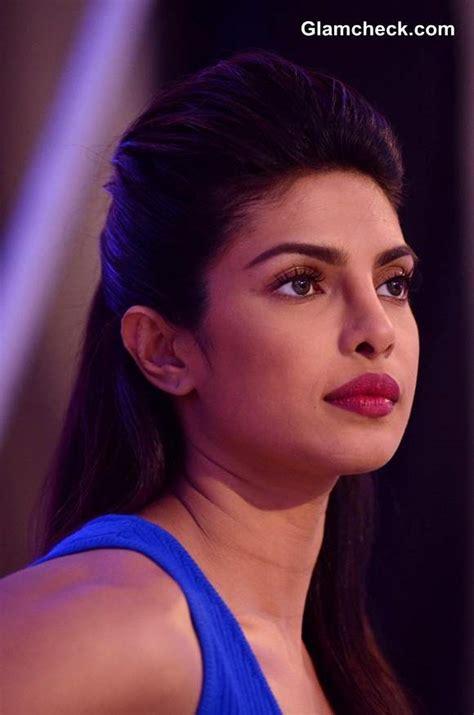 priyanka chopra launches ndtv   channel  blue jersey