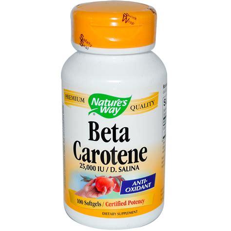 Beta Carotene Detox nature s way beta carotene 25 000 iu d salina 100