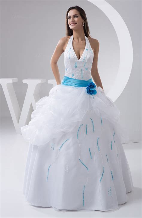 White Allure Bridal Gowns Ball Gown Plus Size Spring Sleeveless Fall Glamorous   UWDress.com