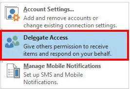 Office 365 Delegate Access Manage Permissions For A Delegate User In Outlook Client