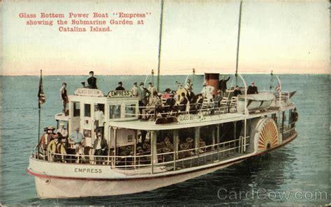 glass bottom boats catalina ca glass bottom power boat quot empress quot santa catalina island