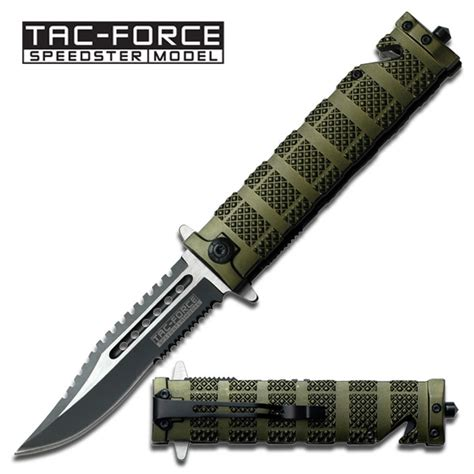auto assist knife assist auto knife green tactical fighter